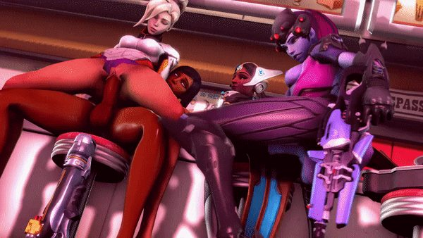 overwatch shemale gamers having sex during porn game